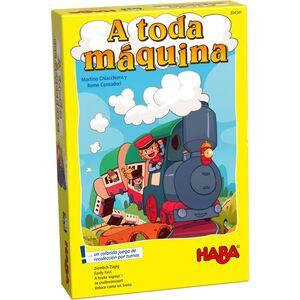 HABA - A TODA MÁQUINA – UN COLORIDO JUEGO DE RECOPILACIÓN DE TRENES JUEGOS DE MESA INFANTILES