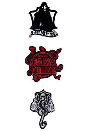 HARRY POTTER PACK DE 3 PARCHES DELUXE DARK ARTS