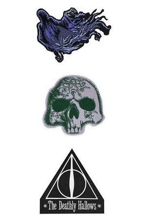 HARRY POTTER PACK DE 3 PARCHES DELUXE DEATHLY HALLOWS