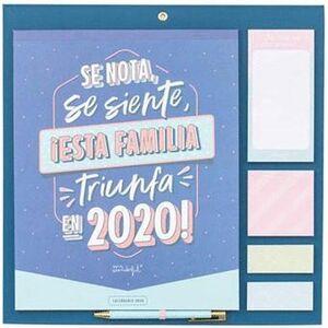 CALENDARIO FAMILIAR - SE NOTA, SE SIENTE, ¡ESTA FAMILIA TRIUNFA EN 2020!