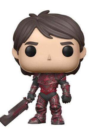 TROLLHUNTERS POP! TELEVISION VINYL FIGURA JIM RED 2017 FALL CONVENTION EXCLUSIVE 9 CM