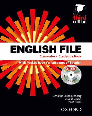 ENGLISH FILE 3RD EDITION ELEMENTARY. STUDENT'S BOOK AND WORKBOOK WITHOUT KEY PAC