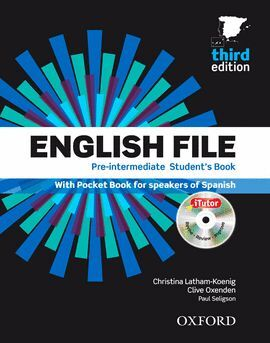 ENGLISH FILE 3RD EDITION PRE-INTERMEDIATE. STUDENT'S BOOK, ITUTOR AND POCKET BOO