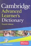 CAMBRIDGE ADVANCED LEARNER'S DICTIONARY WITH CD-ROM 4TH EDITION