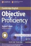 OBJECTIVE PROFICIENCY STUDENT'S BOOK WITH ANSWERS WITH DOWNLOADABLE SOFTWARE 2ND
