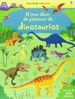 GRAN ALBUM DE PEGATINAS DE DINOSAURIOS