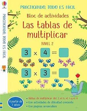 LAS TABLAS DE MULTIPLICAR. NIVEL 2