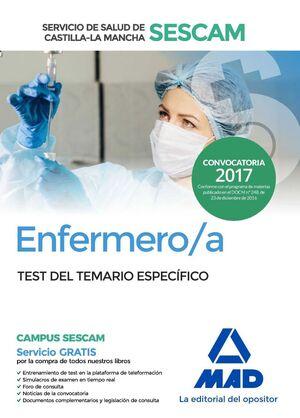 ENFERMERO/A DEL SERVICIO DE SALUD DE CASTILLA-LA MANCHA (SESCAM). TEST DEL TEMAR
