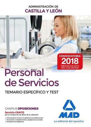 PERSONAL DE SERVICIOS DE LA ADMINISTRACIÓN DE CASTILLA Y LEÓN. TEMARIO ESPECÍFIC