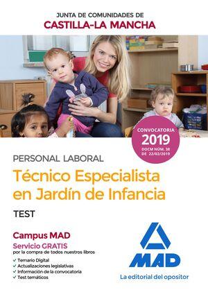 TÉCNICO ESPECIALISTA EN JARDÍN DE INFANCIA (PERSONAL LABORAL DE LA JUNTA DE COMU