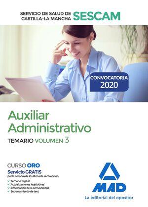 AUXILIAR ADMINISTRATIVO DEL SERVICIO DE SALUD DE CASTILLA-LA MANCHA (SESCAM). TE