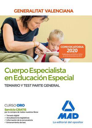 CUERPO ESPECIALISTA EN EDUCACIÓN ESPECIAL DE LA ADMINISTRACIÓN DE LA GENERALITAT