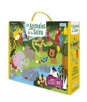 ANIMALES DE LA SELVA 30 PIEZAS CON PUZZL