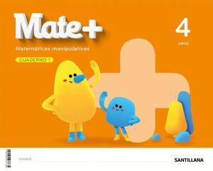 MATE+ MATEMATICAS MANIPULATIVAS 4 AÑOS