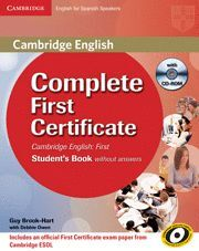COMPLETE FIRST FOR SPANISH SPEAKERS WORKBOOK WITH ANSWERS WITH AUDIO CD 2ND EDIT