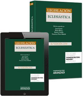 LEGISLACIÓN ECLESIÁSTICA (PAPEL + E-BOOK)