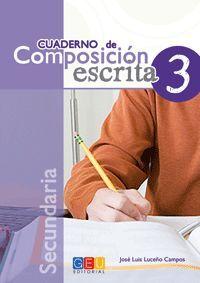 CUADERNO DE COMPOSICIÓN ESCRITA 3