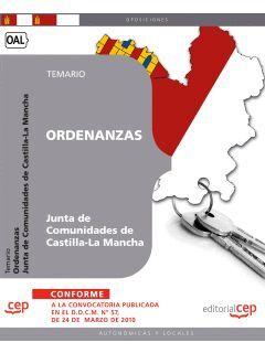 ORDENANZAS. JUNTA DE COMUNIDADES DE CASTILLA-LA MANCHA. TEMARIO